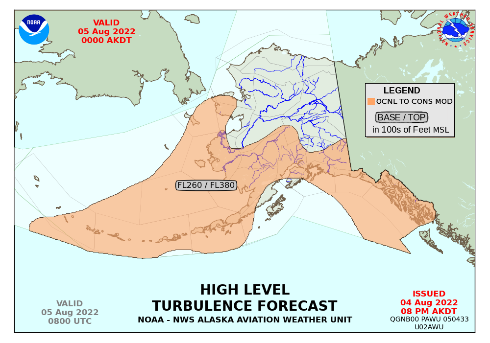 Turbulence Forecasts - Us aviation turbulence map