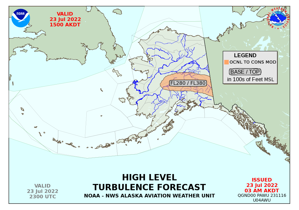 Alaska Aviation Weather Unit - Us aviation turbulence map