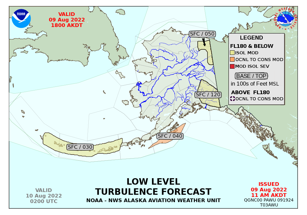 Turbulence Forecasts - Us turbulence forecast map