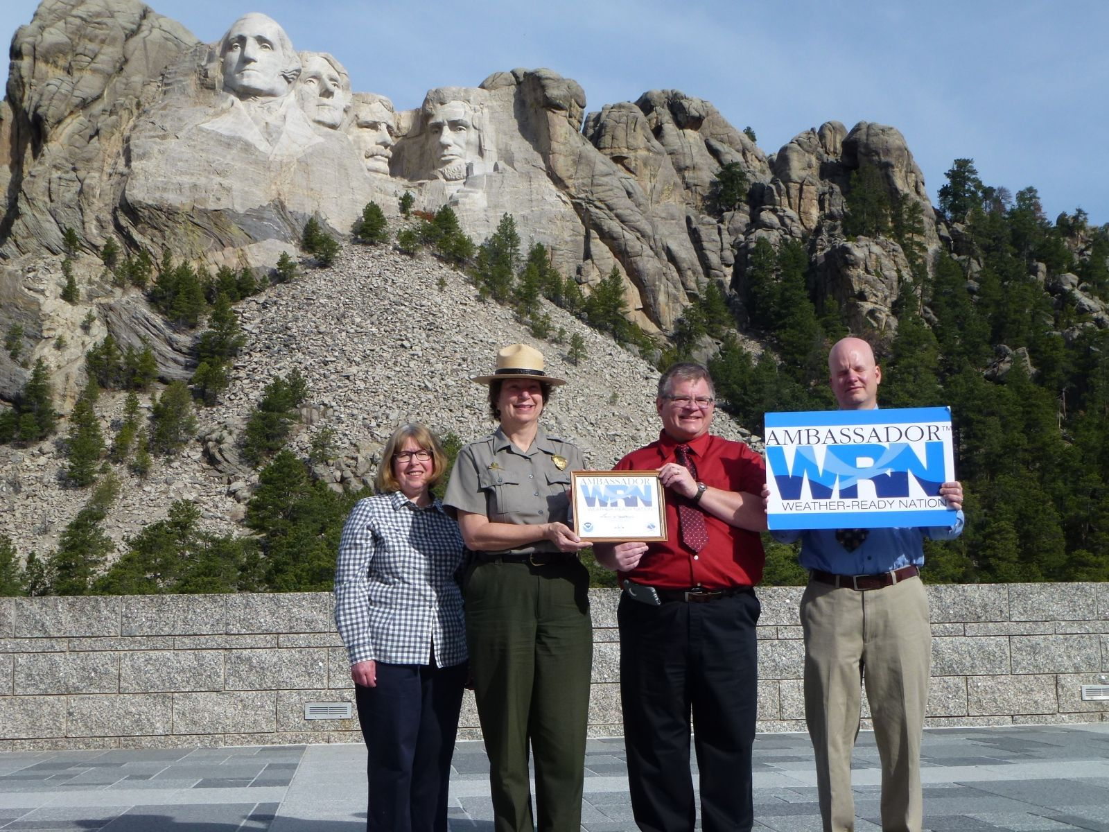 NWS Rapid City, SD recognizes Mt. Rushmore National Memorial as a WRN Ambassador.