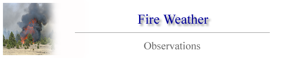 Fire Weather Observations