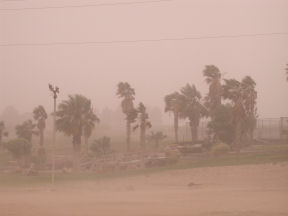 photo of dust storm