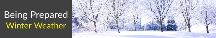 Main header with picture of winter scene
