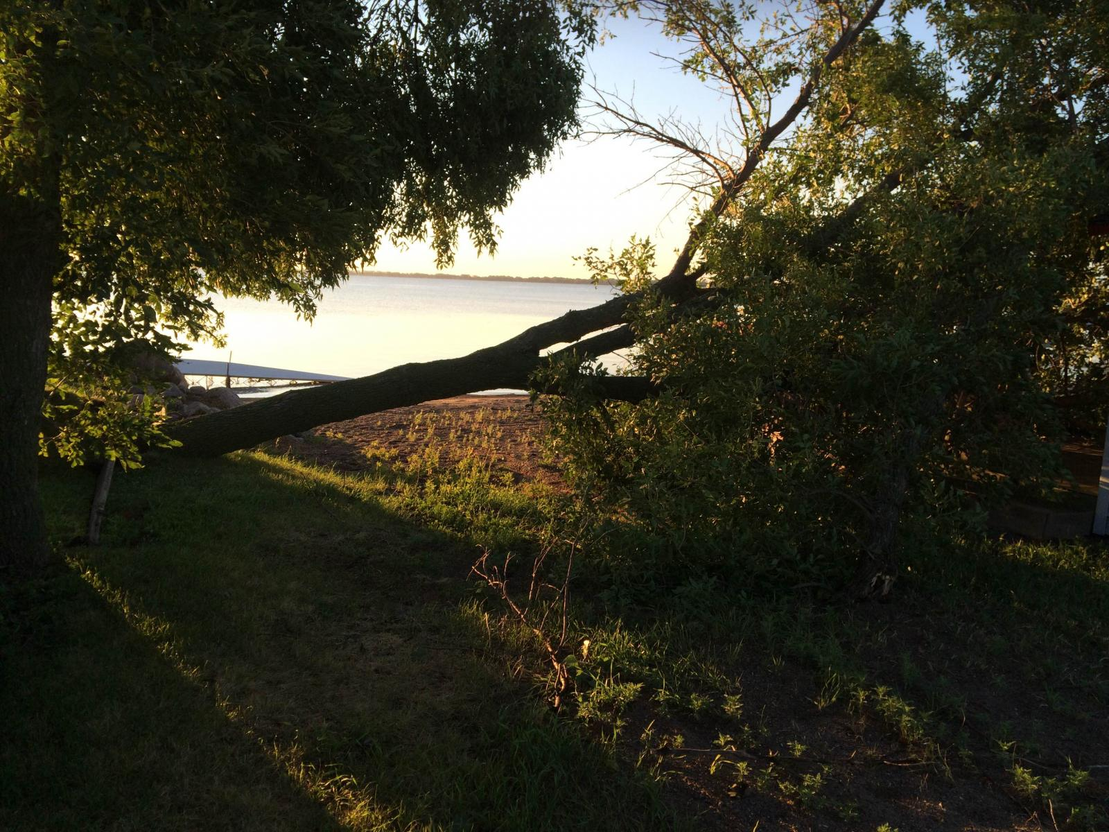 Damage at Lake Poinsett - Photo by Dave Schaefer