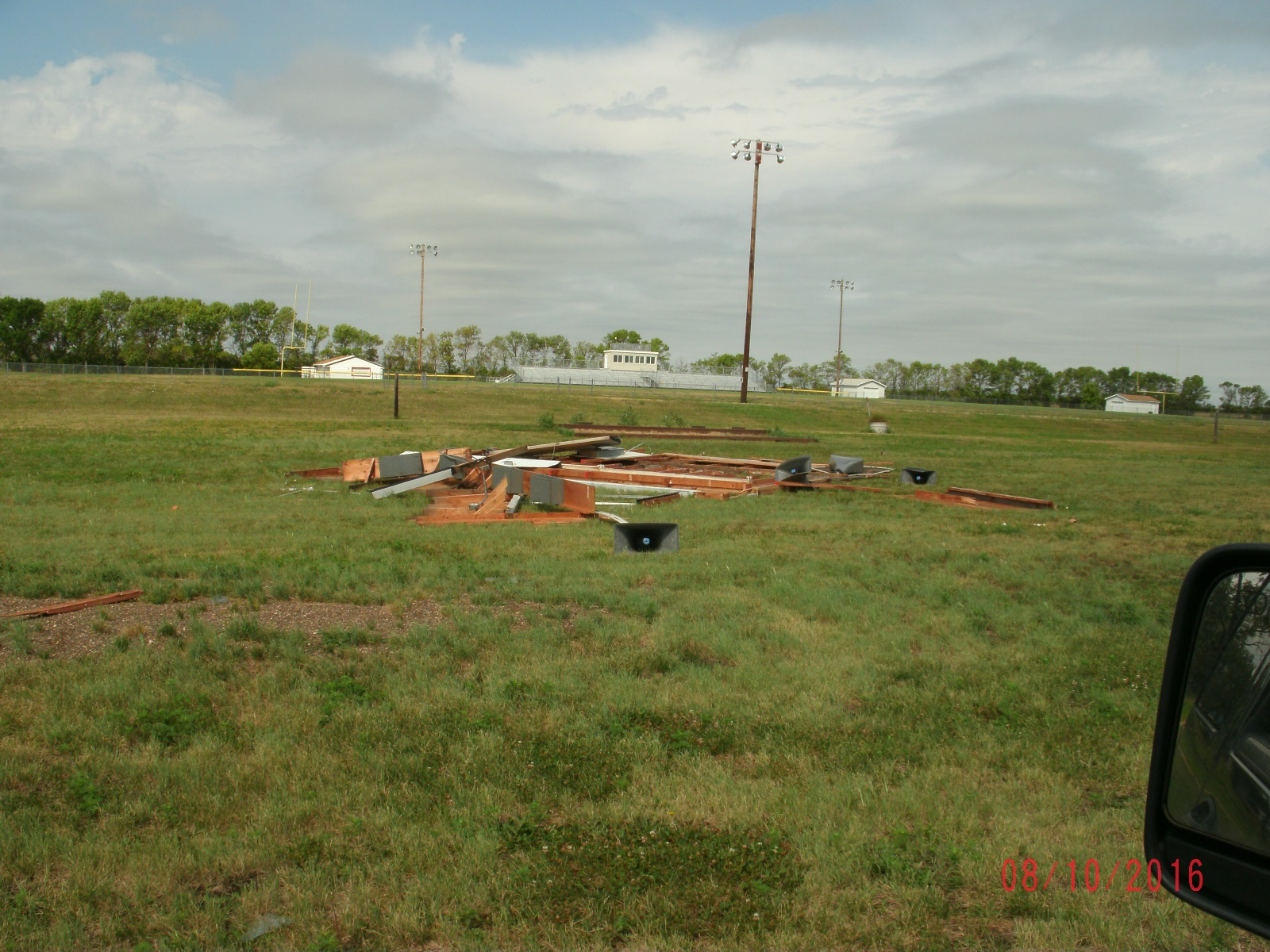 Damage at Trail Days site (Photo from Edmunds County EM)