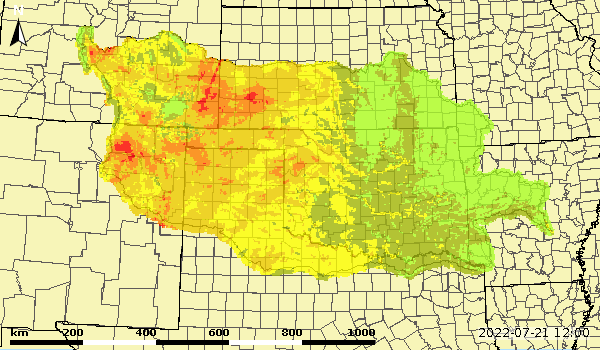 Lower Zone Soil Moisture Monthly Average