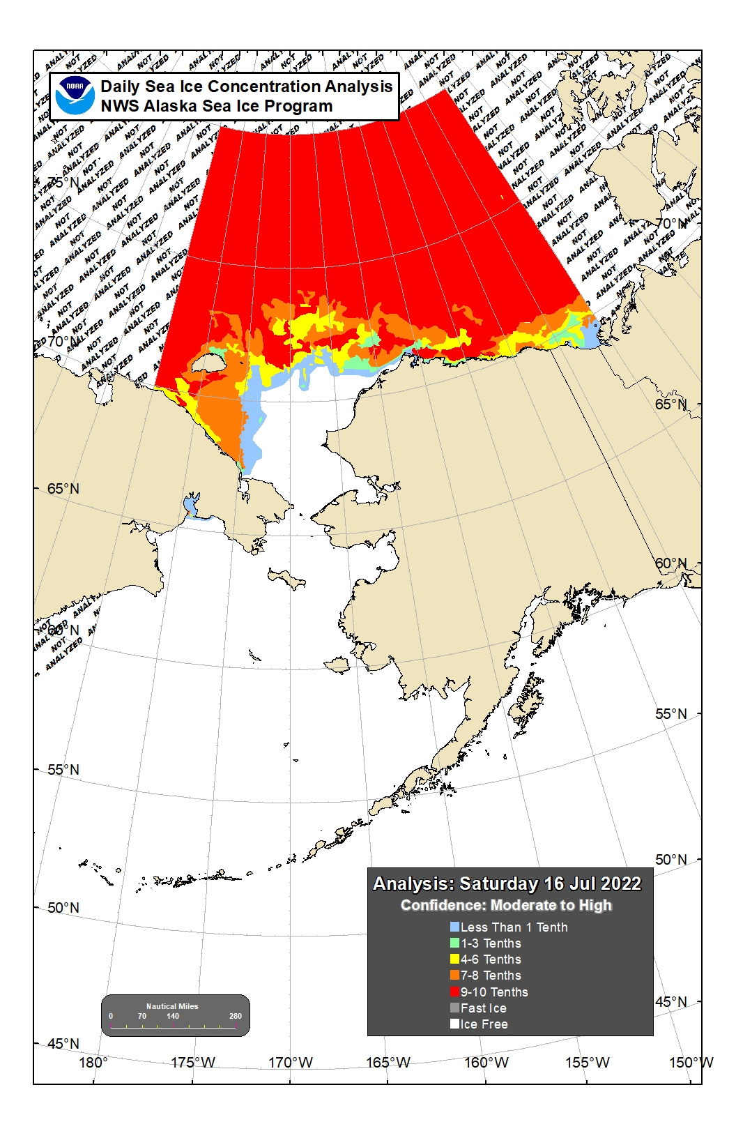 Ice Map of the Bering Sea