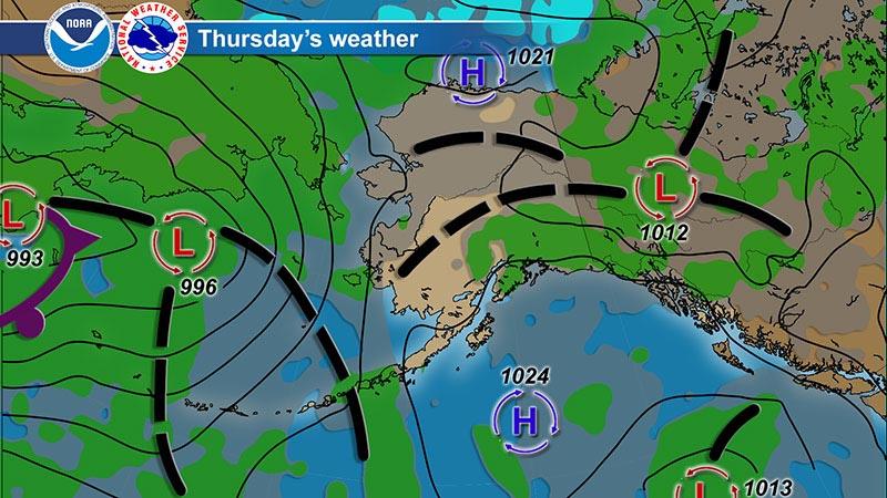 Alaska Mountain Weather - Map of united states weather forecast