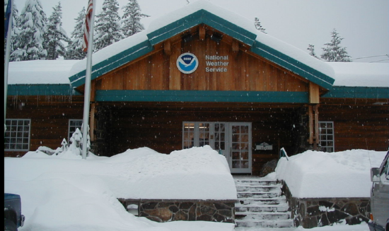 Juneau forecast office in winter