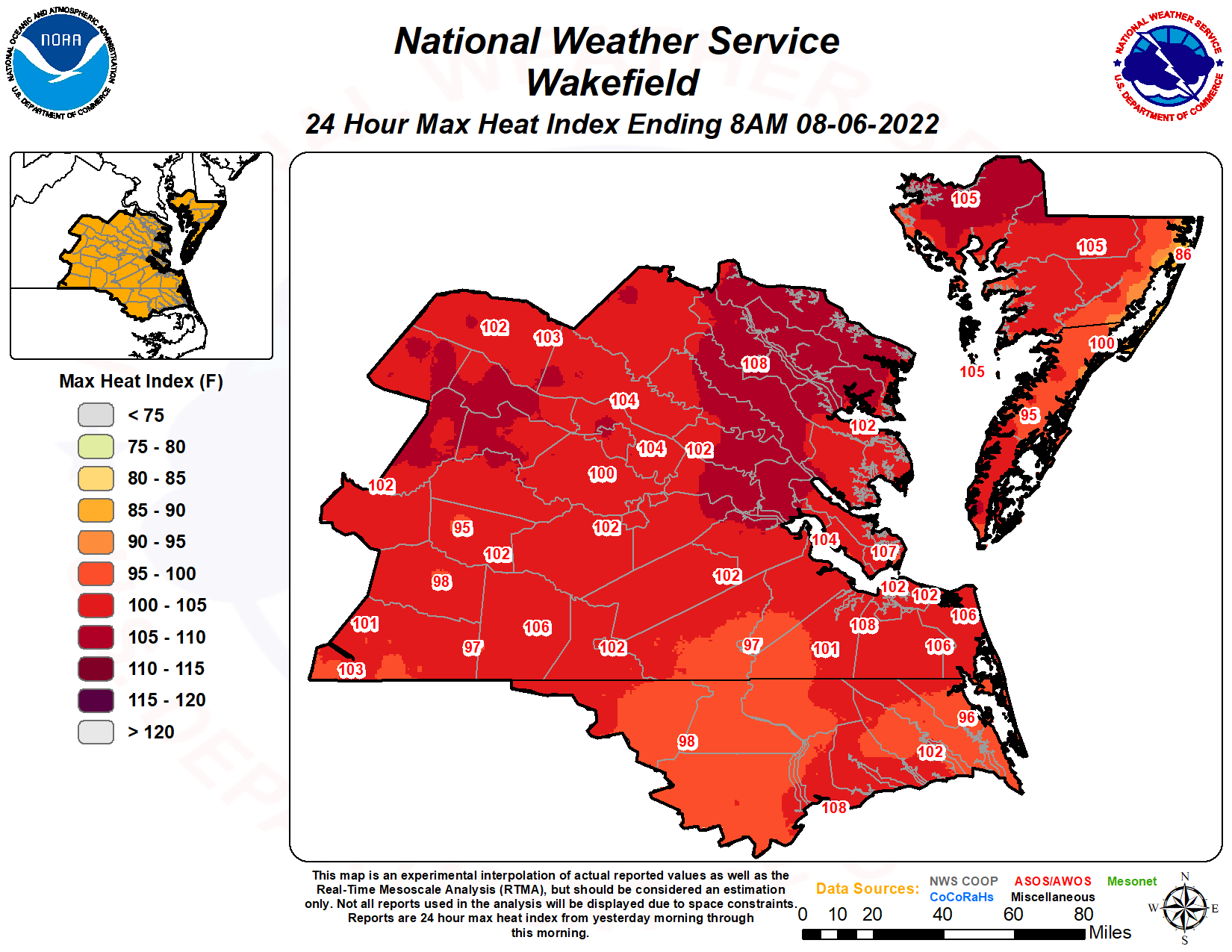 Daily Maximum Heat Index