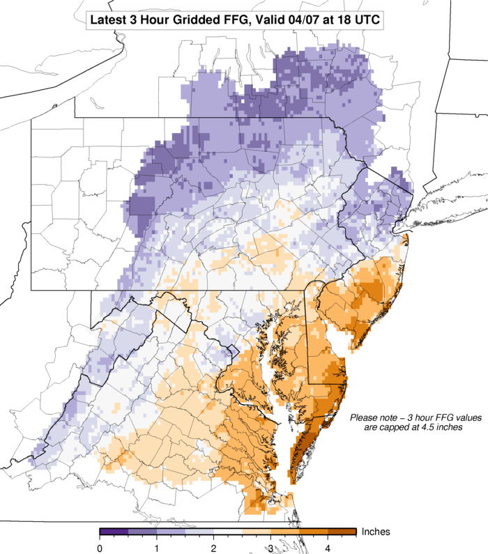 Flash Flood   Guidance Link to Graphic