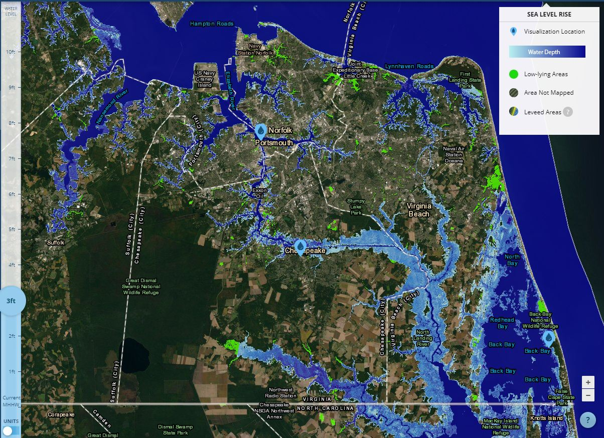 NOS Sea Level Rise Viewer
