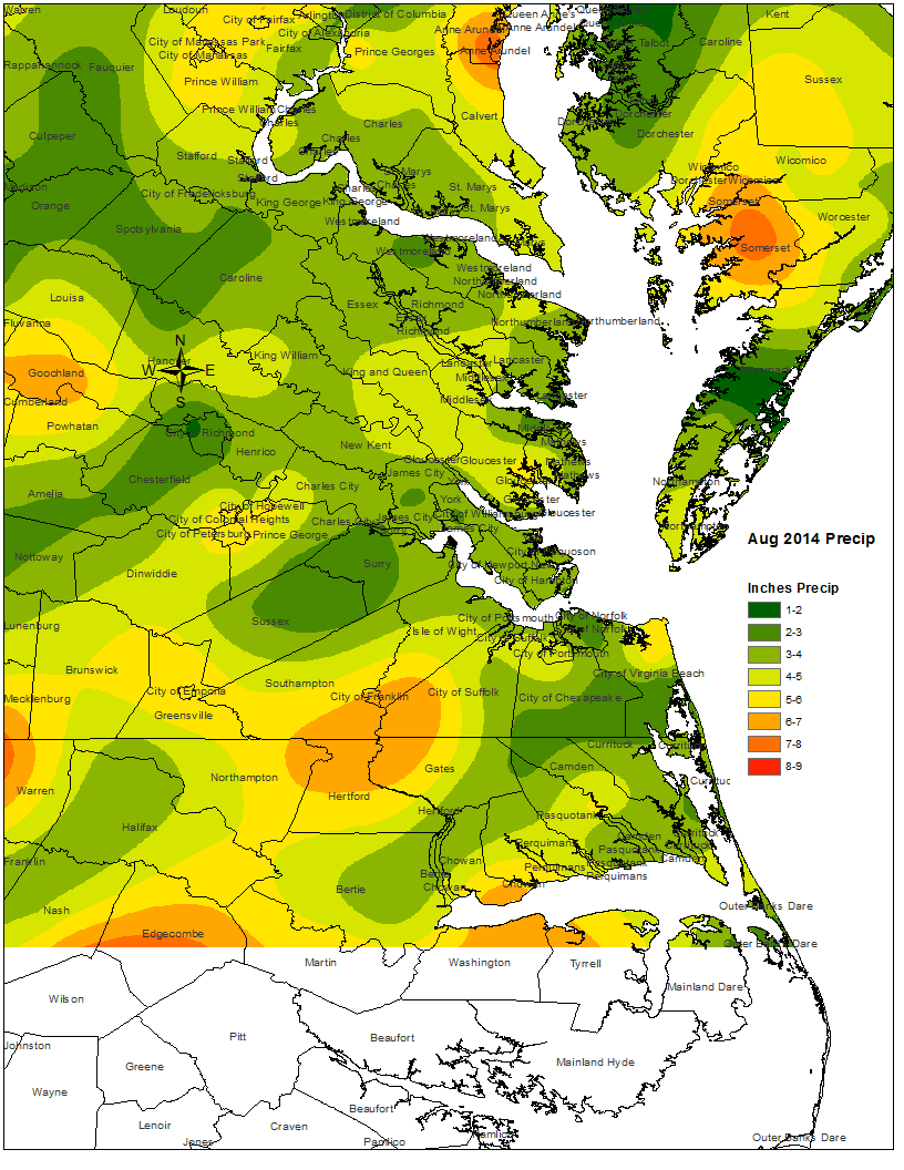 monthly rainfall analysis