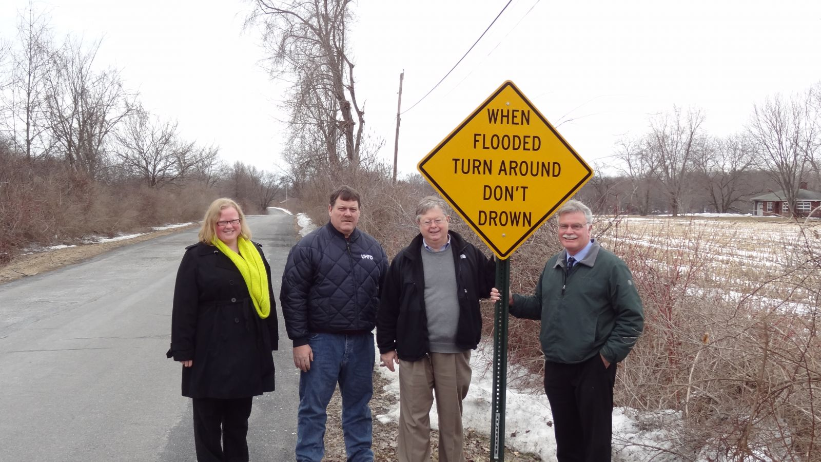 Town of Ulster Turn Around Don't Drown Sign Unveiling