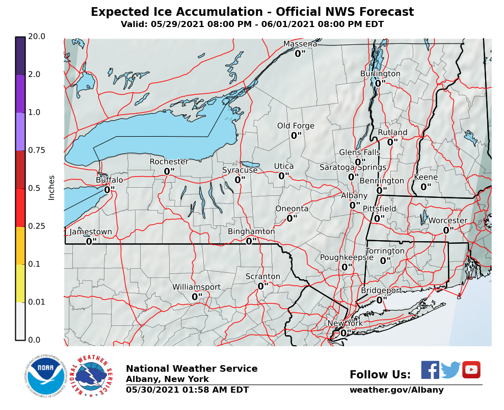 Most Likely Ice Accumulation