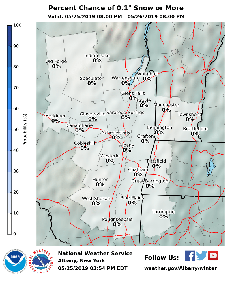 Albany Weather Map.Winter Weather Forecast Page