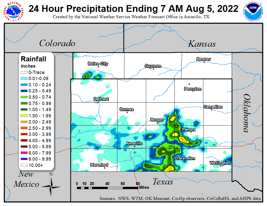 24 Hour Precipitation Amounts