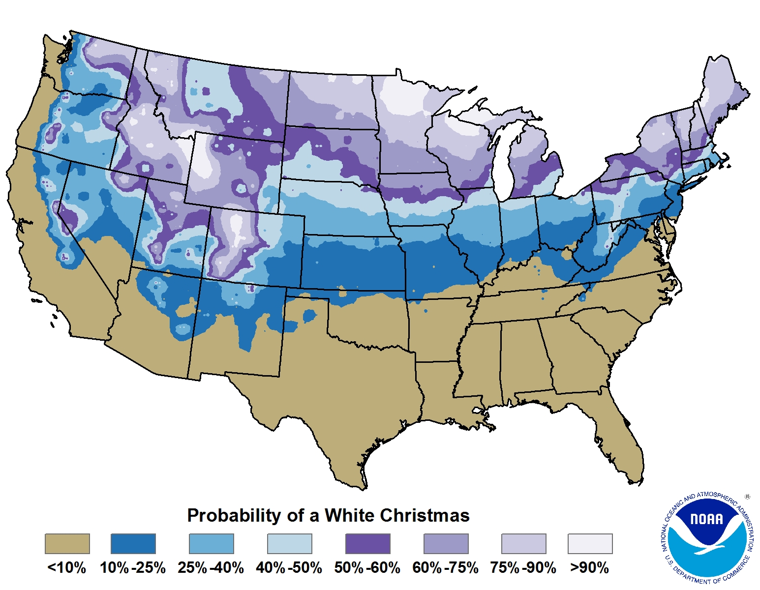 Probabilities of a White Christmas