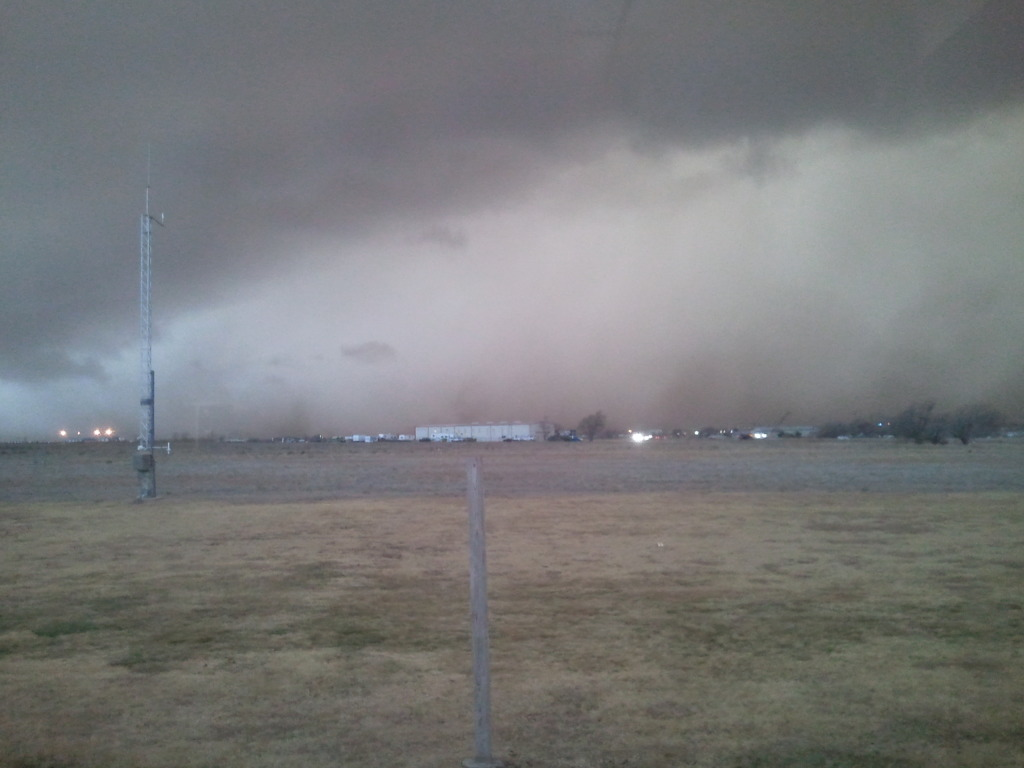 Dust caused by approaching storms
