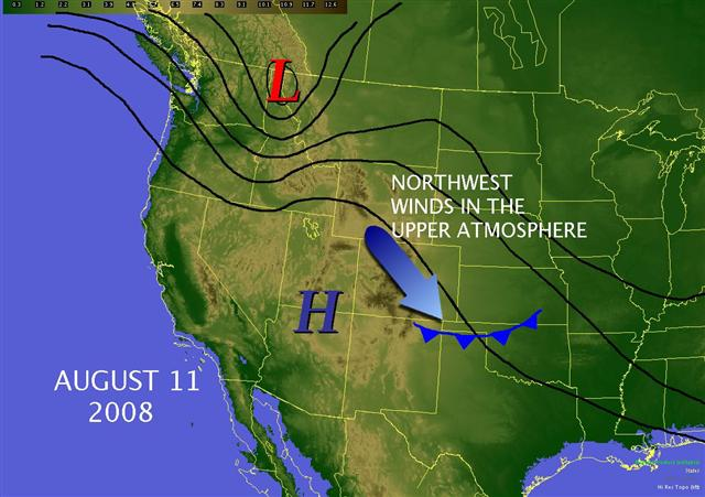 August 11 weather pattern