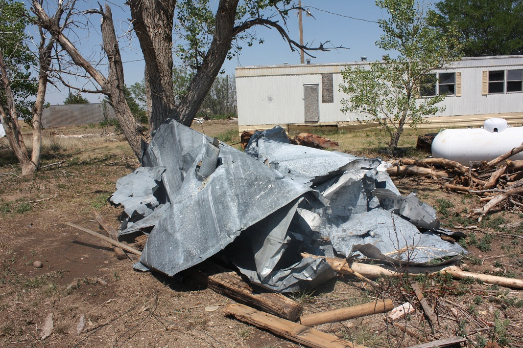 Tornado damage in Tyrone, OK