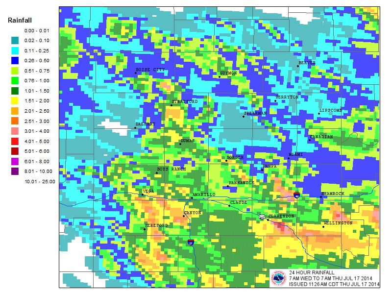 24-hr precipitation July 16-17