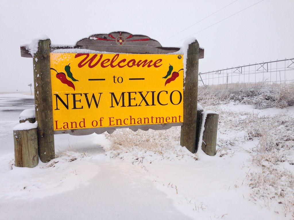 Hwy 412 at NM state line (@stormchasetour)