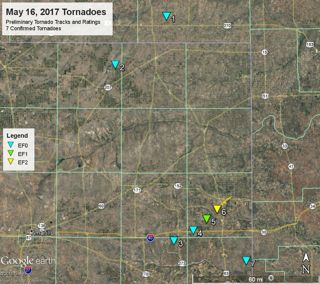 Confirmed Tornadoes
