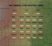 Amarillo Fire Weather Zones