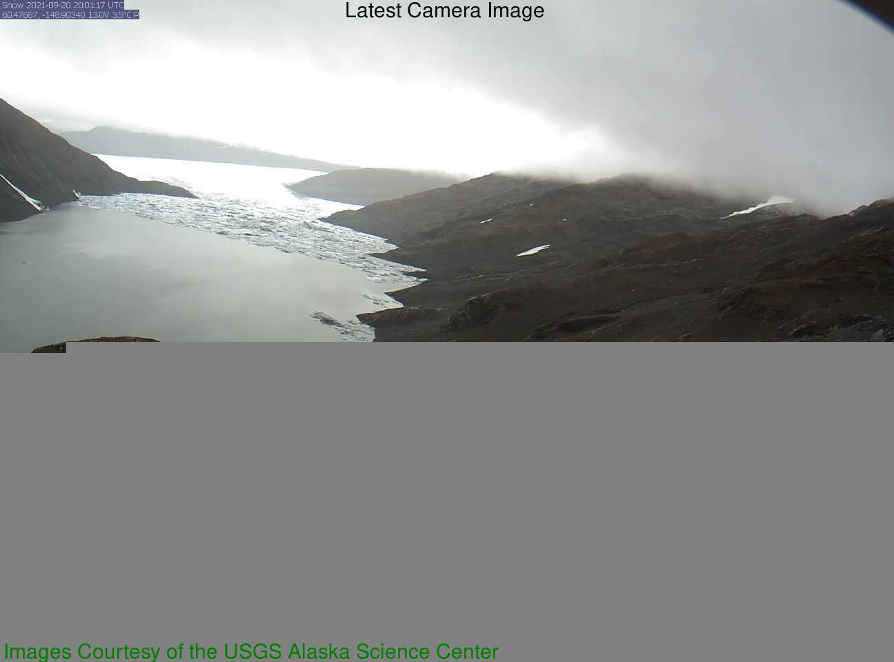 USGS has installed a new webcam at the Snow Glacier Dammed Lake