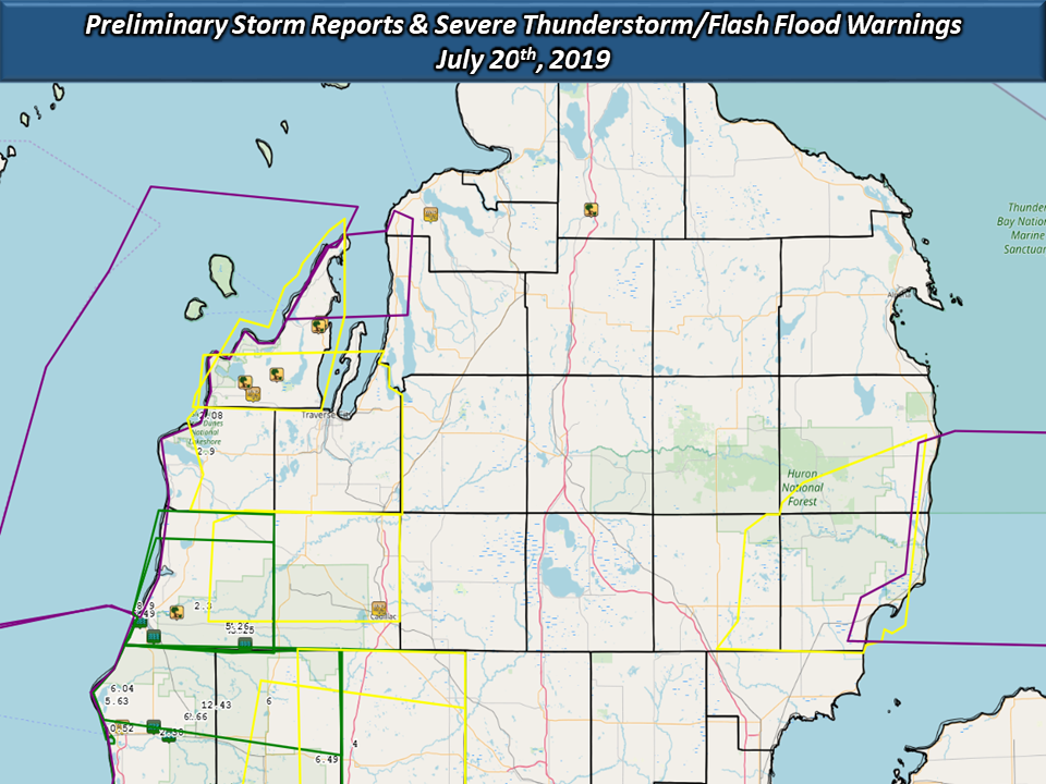 Marine City Mi Weather >> July 20th 2019 Flooding And Severe Weather