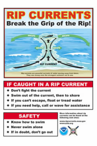 Rip Current Safety Poster and Link