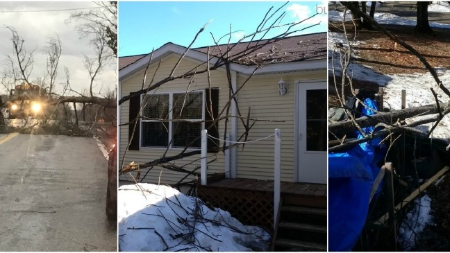 Strong winds cause wind damage in northern Michigan