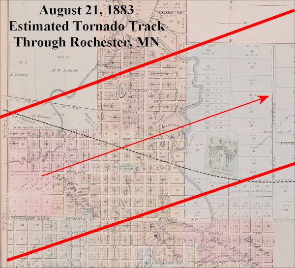 August 21 1883 Rochester Tornado