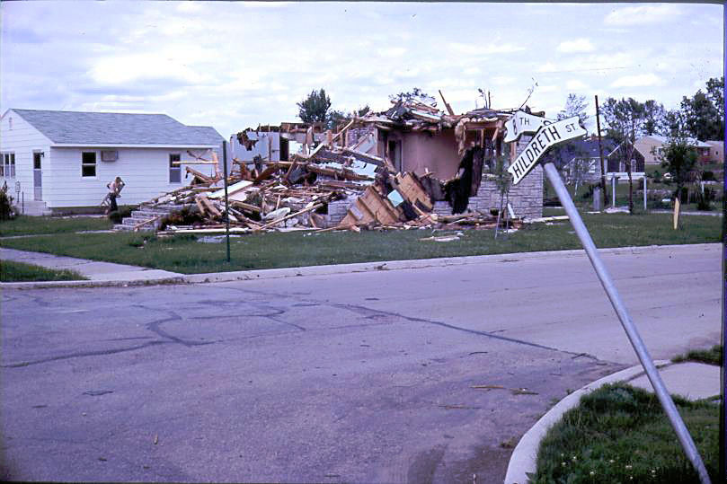 Corner of 8th and Hildreth in Charles City, IA