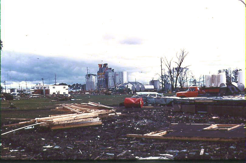South end of Charles City, IA where tornado first struck