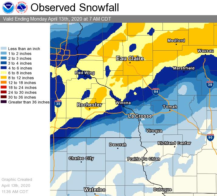April 12, 2020 Snowfall