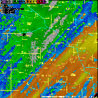 Storm total rainfall map