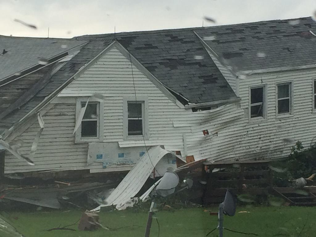 home damaged by storm