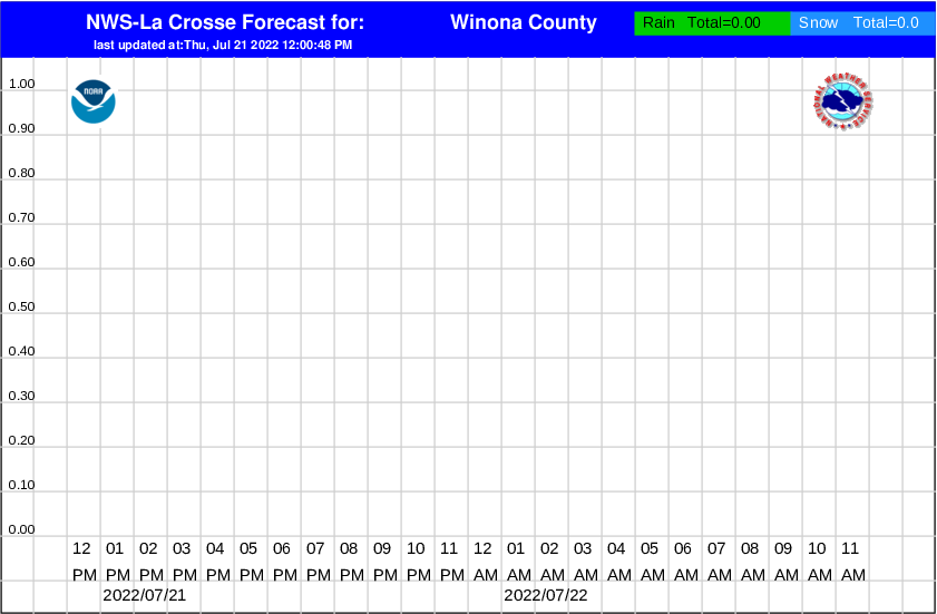 winona county hourly snowfall