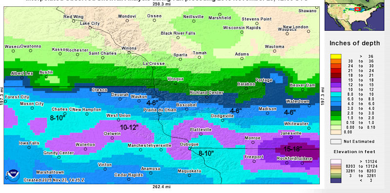 Local Snowfall Totals