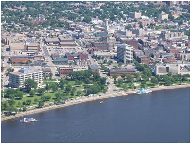 arial view of La Crosse