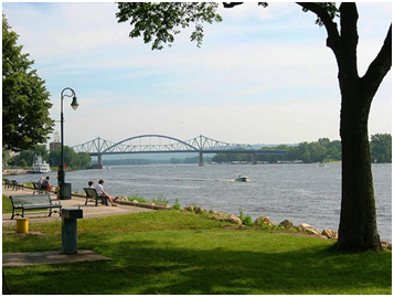 Riverside park in La Crosse