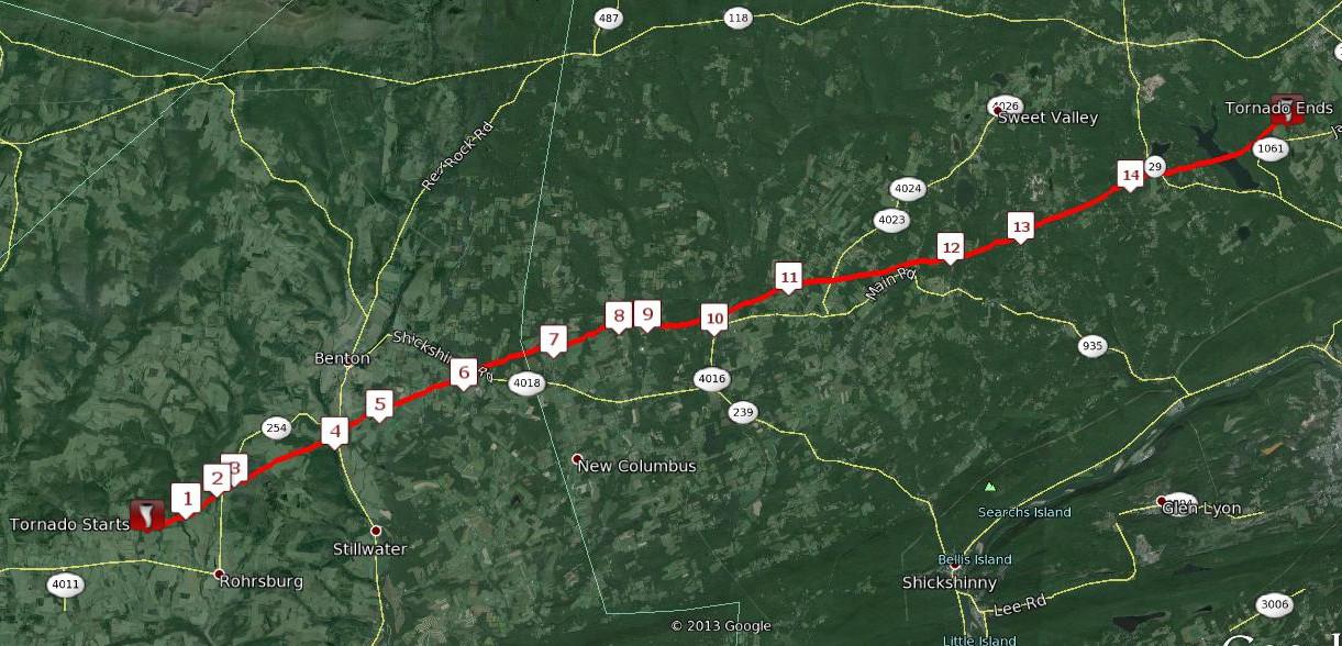 August 19 1890 ColumbiaLuzerne County Tornado