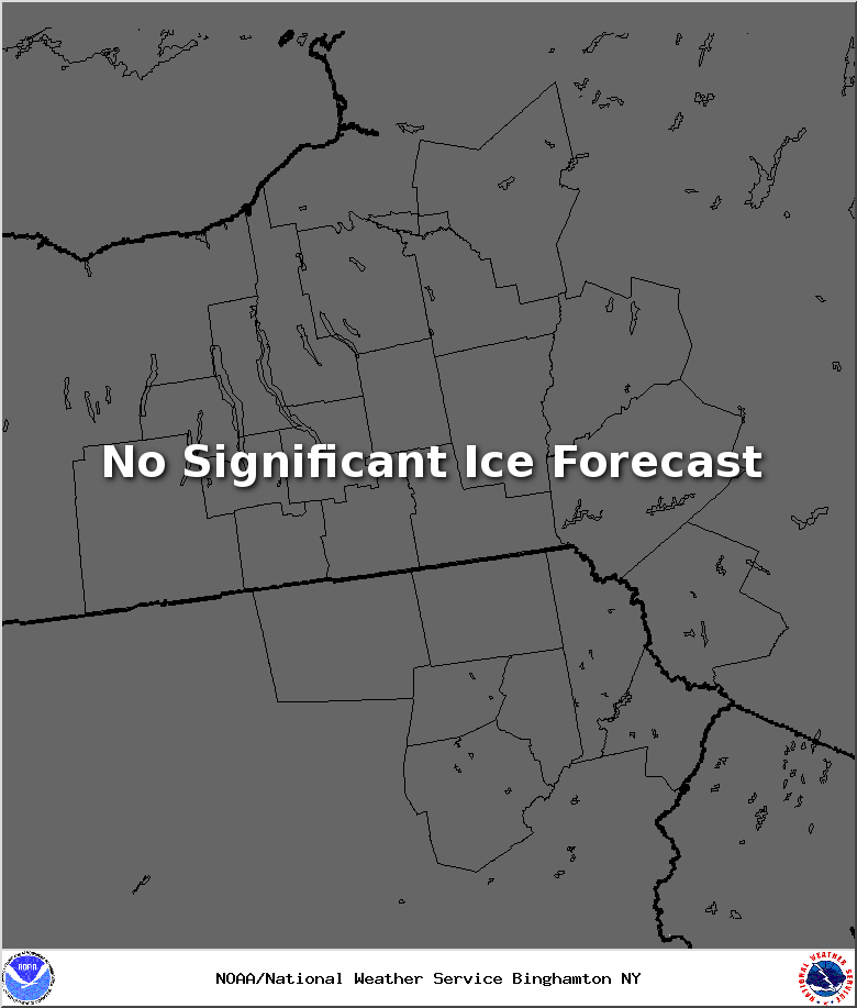 Forecast Storm Total Ice map in inches.