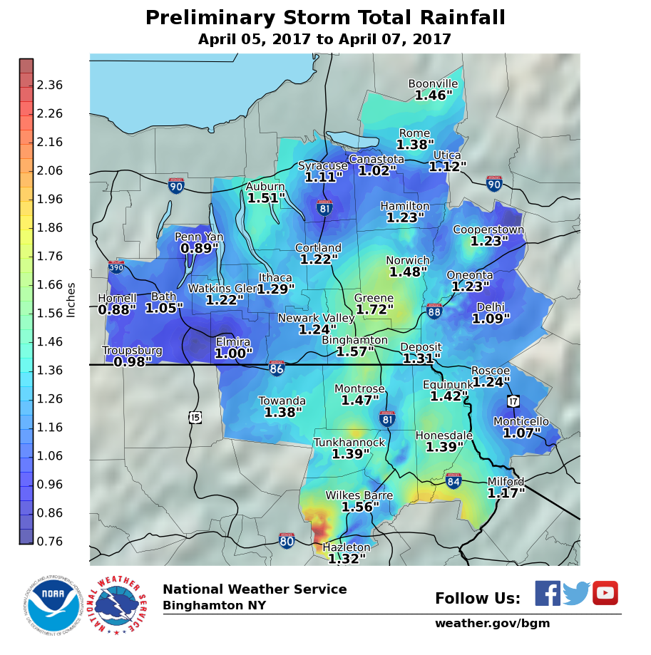 Preliminary Storm Total Rainfall