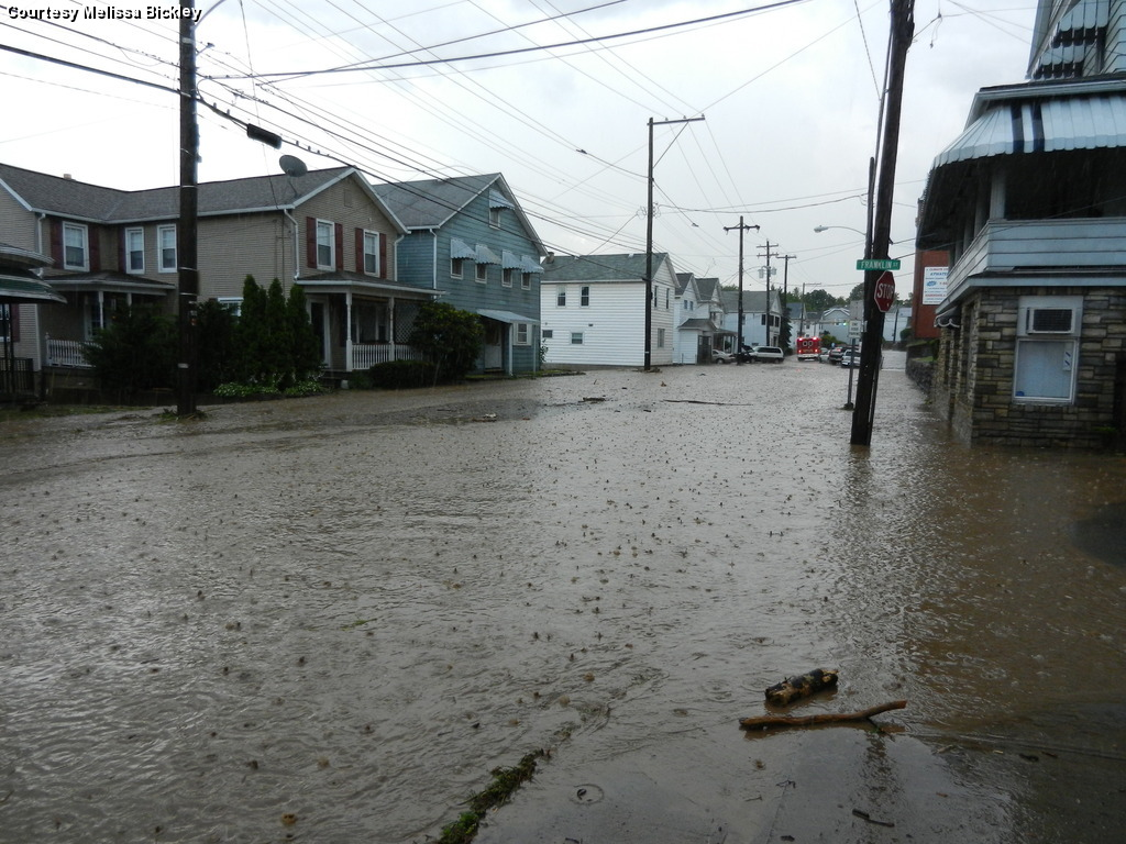 Flood at the intersection of Route 11 and Coal St., Plymouth, PA