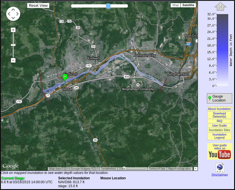 Flood inundation map example. Click to see more