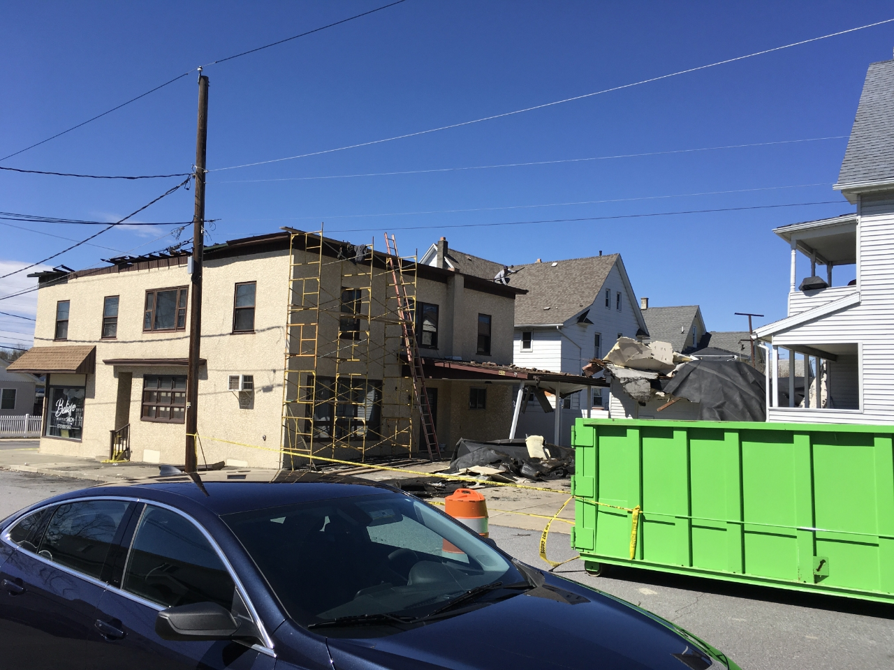 Roof damage in Scranton area. Click for a larger view.