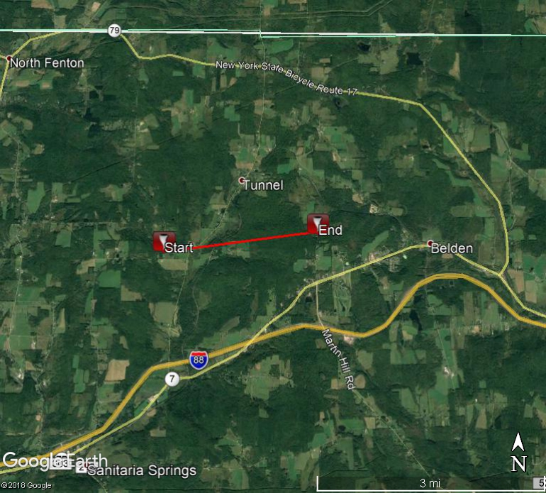 Map of tornado path.